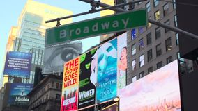 Broadway street sign (1 of 2) stock video footage