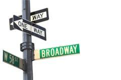 broadway tecken royaltyfri fotografi