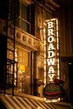 Broadway tecken Arkivbild
