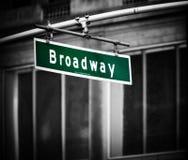 broadway tecken Arkivbilder