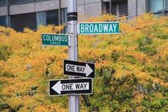 Broadway tecken royaltyfria foton