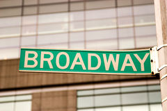 Broadway tecken, New York Arkivbilder