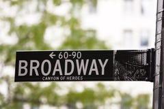 broadway teckengata royaltyfri bild