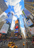 Broadway and 7th Avenue in Times Square from excursion bus Stock Photography