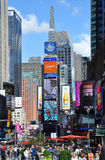 Broadway and Times Square, New York City royalty free stock photography