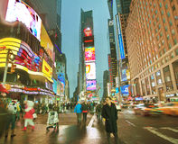 Broadway Times Square at night, New York Stock Photos
