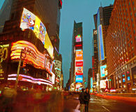 Broadway Times Square at night, New York Royalty Free Stock Images