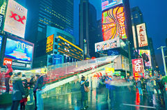 Broadway Times Square at night, New York Stock Images