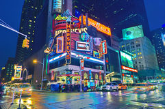 Broadway Times Square at night, New York stock photography