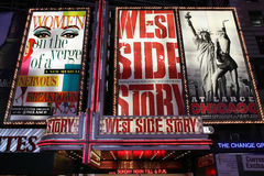 Broadway toont reclame Stock Foto
