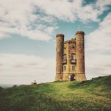 Broadway tower. BroadwY tower on the edge of the Cotswolds. Worcestershire UK Royalty Free Stock Images