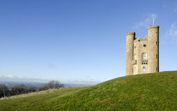 Broadway tower, Cotswolds, UK. Broadway tower, on a hill overlooking the Cotswolds, UK Stock Photography