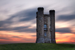 Broadway Tower at dusk. Cotswolds, UK Royalty Free Stock Photography
