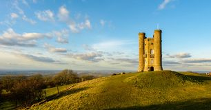 Broadway Tower in England. Located in the cotswold. This picture turned out nicely for a postcard stock image