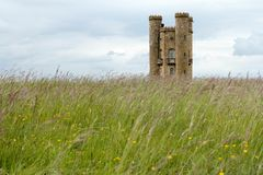 Broadway Tower - Folly in Cotswolds England Royalty Free Stock Photo