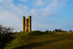 Broadway tower in spring. Broadway tower sunshine Stock Photos