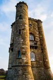 Broadway tower in spring. Broadway tower sunshine Stock Photo