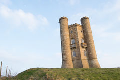 Broadway tower in spring. Broadway tower sunshine Royalty Free Stock Image