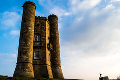 Broadway tower in spring. Broadway tower sunshine Stock Photography