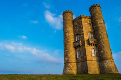Broadway tower in spring. Broadway tower sunshine Stock Images