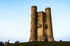Broadway tower in spring. Broadway tower sunshine Royalty Free Stock Photos