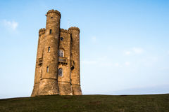 Broadway tower in spring. Broadway tower sunshine Royalty Free Stock Images