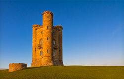 Broadway Tower before sunset, Cotswolds, UK. Broadway Tower before sunset, Cotswolds, England Royalty Free Stock Photography