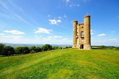 Broadway tower. Broadway tower and surrounding countryside on Broadway Hill, near Broadway, Worcestershire, England, UK, Western Europe stock images