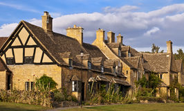 Broadway.Traditional Cotswold cottages in England, UK Royalty Free Stock Image