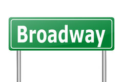 Broadway traffic sign Royalty Free Stock Photography
