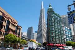 Broadway ulica w San Fransisco, Kalifornia, usa Fotografia Stock