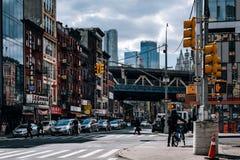 Broadway Uliczny widok Chinatown w lower manhattan obrazy royalty free