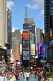 Broadway und Times Square, New York City Stockfotografie