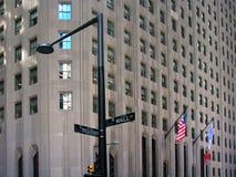 Broadway and Wall Street Crossroad, Manhattan, New York Stock Photography