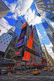 Broadway and West Street 42nd in Midtown Manhattan Royalty Free Stock Photos