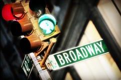 Broadway-Zeichen Lizenzfreie Stockfotografie