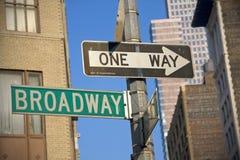 Broadway-Zeichen stockfotos