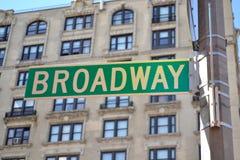 Broadway znak Zdjęcia Stock
