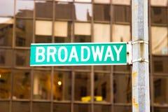 Broadway Znak, Nowy Jork Zdjęcia Royalty Free