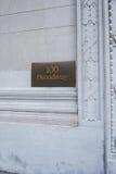 Broadway znak uliczny w Nowy Jork Obrazy Royalty Free