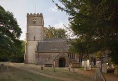 Broadwell村庄的, Cotswolds,格洛斯特郡,英国教会 库存图片
