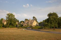 Broadwell村庄, Cotswolds,格洛斯特郡,英国 库存照片