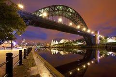 Broar över Riveret Tyne i Newcastle, England Royaltyfri Foto
