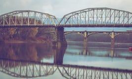 Broar över Susquehannaet River Royaltyfria Foton