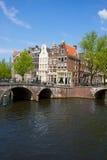 Broar av kanalcirkeln, Amsterdam Royaltyfria Foton