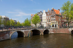 Broar av kanalcirkeln, Amsterdam Royaltyfria Bilder