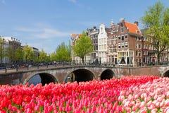 Broar av kanalcirkeln, Amsterdam Fotografering för Bildbyråer