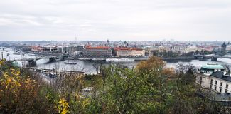 Broar av Prague, Tjeckien Arkivfoto