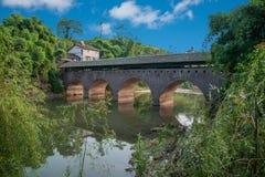 Broar för bro för Huaying flod forntida ---- Stjärna (gränsbro) Royaltyfria Foton