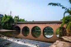 Broar för bro för Huaying flod forntida ---- Stjärna (gränsbro) Royaltyfri Bild
